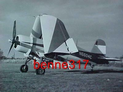Vintage Photo WW II Aircraft Airplane Folding Wings 8X10 B&W Excellent Condition