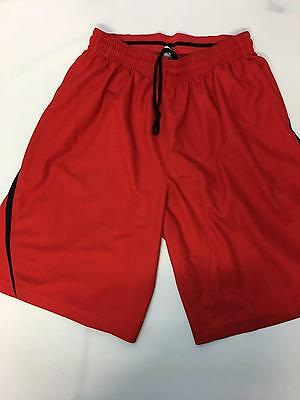Mens Nike Dri-Fit Basketball Gym Running Workout Shorts Red Size XL D74