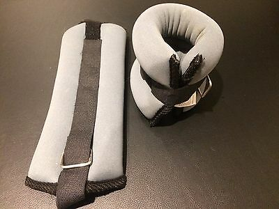 2x Sports Velcro Adjustable Ankle Weights for Yoga, Gym, Strength and Fitness