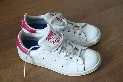 Adidas Stan Smith Baskets Taille 38 Excellent état !! US 5,5 Blanche / Rose