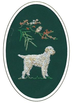 Italian Spinone Birthday Card or Notecard Embroidered by Dogmania