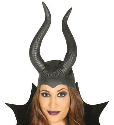 Deluxe Maleficent Wicked Evil Queen Horns Headpiece Hat in Latex