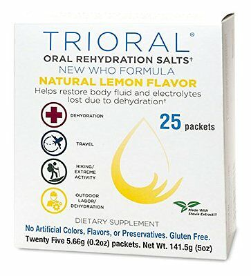TRIORAL ORAL REHYDRATION SALTS WHO FORMULA WITH NATURAL LEMON FLAVOR 60-0135
