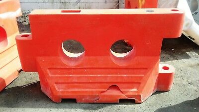 Construction Traffic Water Barriers Jersey Barriers - Plastic - Used - Cracks