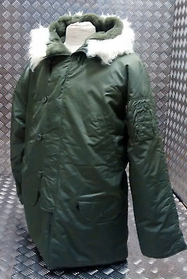 US N3B Military Style ECW Snorkel Parka Green MOD/Scooter/Bikers - All Sizes NEW
