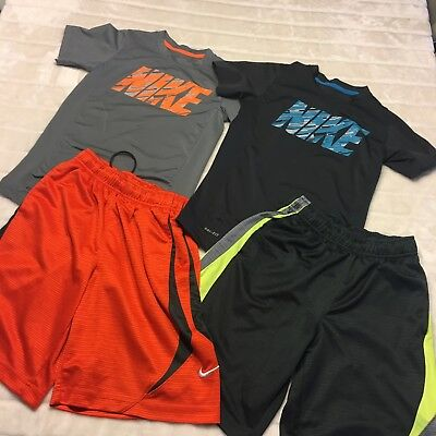 Nike Dri Fit Boys Size Small Lot Of Shirts & Shorts 6 8 years Sporty Trendy