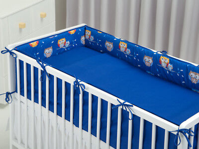 ALL ROUND COT BUMPER long 360 cm FOR COT NAVY OWLS