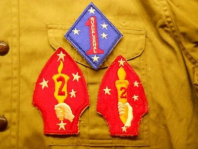 VINTAGE USMC 1st AND 2nd MARINE DIVISION / REGIMENT PATCHES