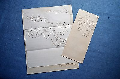 Group of Documents for Superintendent of National Cemetery in Newberne, N.C.1869