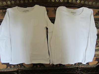 Twin Girls Long Sleeve White Tops, Size 6/7  **old Navy**