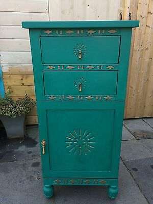 The Pier cupboard cabinet Annie Sloane Turquoise / Teal and Copper solid wood