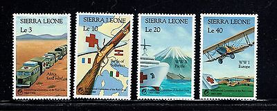 Sierra Leone 1005-1008, 1988 Red Cross And Red Crescent, Mnh, (Id6644)
