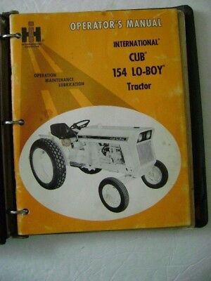 International Harvester's Owner Manual for Cub 154 Lo-Boy Tractor