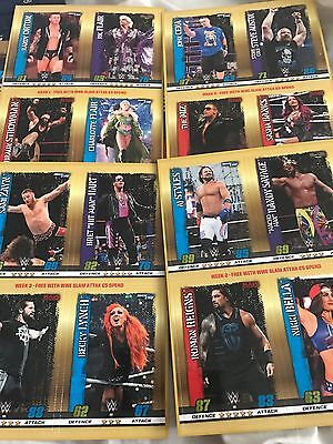 WWE Slam attax 10 Rare extra binder and complete 16 card subset exclusive cards