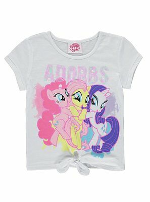 Girls My Little Pony T Shirt Cute Adorbs Design Top Age's 8-11 Years NEW
