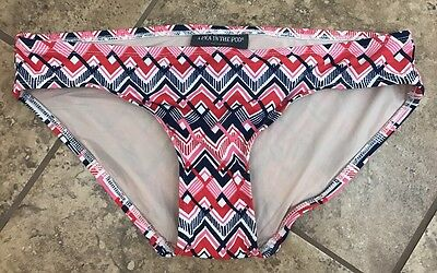 Women's Maternity A Pea in the Pod S Small Bikini Bottom Swim Suit Pink Navy Red