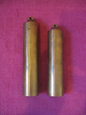 Two Solid Brass Clock Weights - 1.1kg and 1kg - Spares