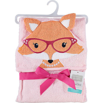 HUDSON BABY Animal Face Hooded Baby Toddler Towel Mrs Fox - Great Gift
