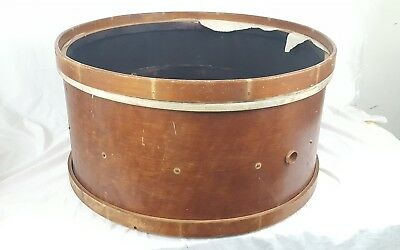 "Antique 1920's Walberg & Auge 24"" Maple Drum Upcycle Table Collectible Table"