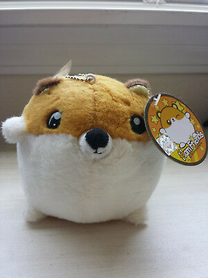 BRAND NEW Ham Friends Plush Stuffed Animal Hamster Keychain Adorable Korean Toy