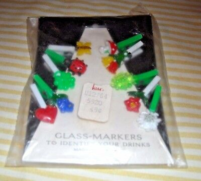 Vintage (NIP) Hess (Allentown PA) Department Stores  Drinking Glass Markers