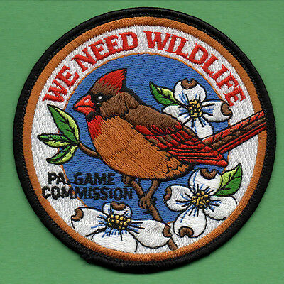 Pa Pennsylvania Game Commission We Need Wildlife Female Cardinal Red Bird patch
