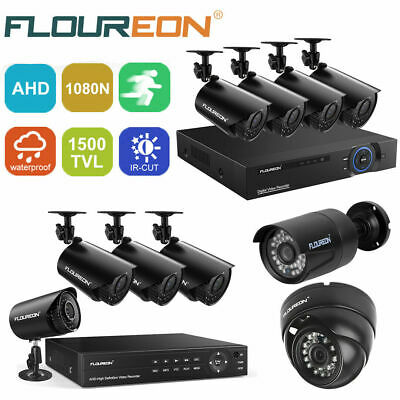 8/4CH 1080N CCTV DVR HDMI Outdoor 1500TVL Camera Home Video Security System Kit