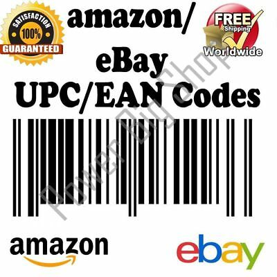 10 UPC EAN Numbers Barcodes Number for Any Marketplace Buy 1 AND Get 2 FREE