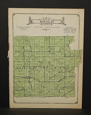 Iowa Webster County Map Douglas Township 1923  W14#05