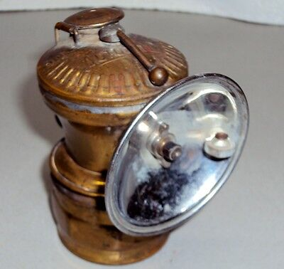 Universal Lamp Co Brass Auto Lite Light Miners Carbide Lamp