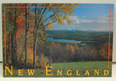 White Mountains & Moore Dam From Concord Corner Vermont Postcard