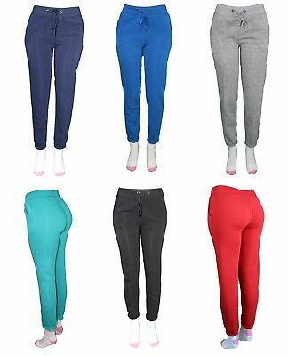 New Women Juniors Cotton Fleece Jogger Drawstring Pockets Sweat Pants Ladies gym