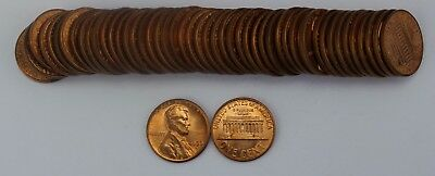 Roll of 50x 1959-D BU Lincoln Memorial Cents Pennies Old US Coins Penny Cent