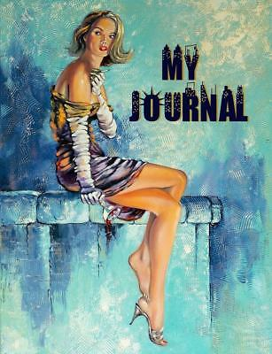 """My Journal 8 1/2"""" x 11"""" 185 pages Lined Beautiful Woman (Diary)"""
