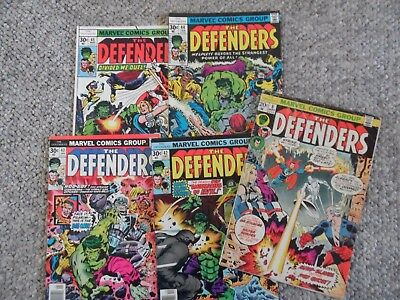 The Defenders Issues 8, 42, 43, 44, 45 - Vintage