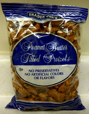 New Sealed Exclusive Trader Joe's Peanut Butter Filled Pretzels 16 Oz