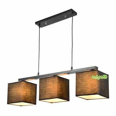 Modern Simple Restaurant Chandelier Three Lights Cloth Dining Table Pendant Lamp