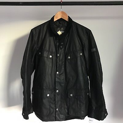 Barbour International Jacket Waxed Black Cubism Mr White Freedom Mountaineering