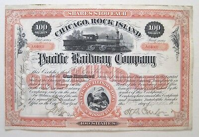 Chicago Rock Island & Pacific Railroad Stock Cert 1902