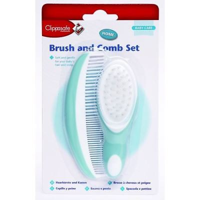 Clippasafe Baby Brush Comb Set Soft Bristles Grooming Newborn Toddler