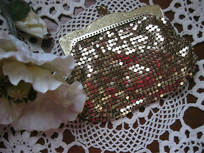 Gorgeous Collectable Vintage OROTON,Made In West Germany Gold Glomesh Purse!