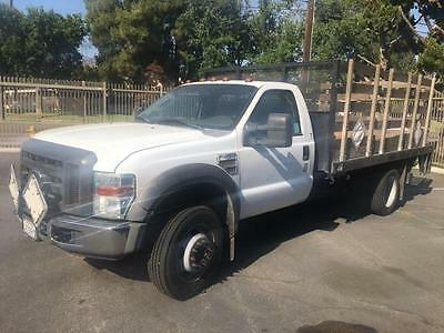 2008 Ford F450 SD 12ft Stake bed w/2500 lb lift gate