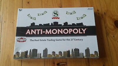 ANTI-MONOPOLY: THE REAL ESTATE TRADING GAME FOR THE 21ST CENTURY 2005 unopened