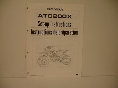 Honda Atc200X 1987 Manuel Instructions De Preparation Atc200X 1987