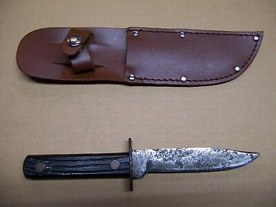 Vintage Fixed Blade Camp Knife With New Sheath