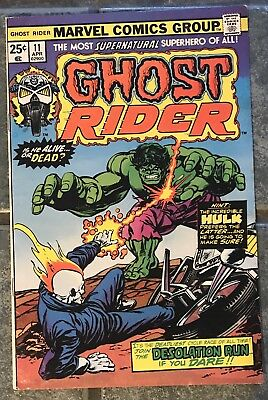 Ghost Rider #11 April 1975 Marvel Incredible Hulk Cover VF