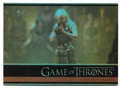 2012 Game of Thrones Season 1 Foil Parallel Card #17 A Golden Crown