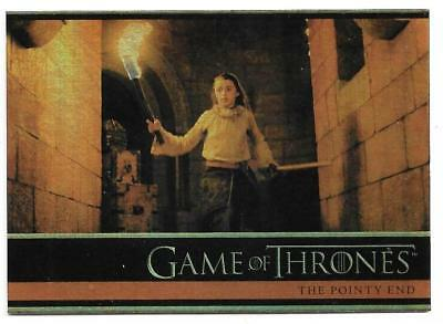 2012 Game of Thrones Season 1 Foil Parallel Card #22 The Pointy End