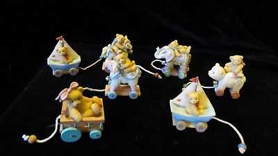 Cherished Teddies Collectable Bears By Enesco Mini Toy set of 8 in boxes