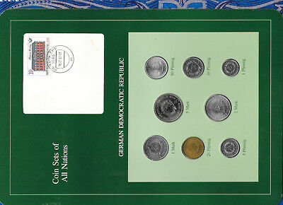 Coin sets of all nations East Germany DDR 1979-1981 UNC 5,2,1 Mark 1979